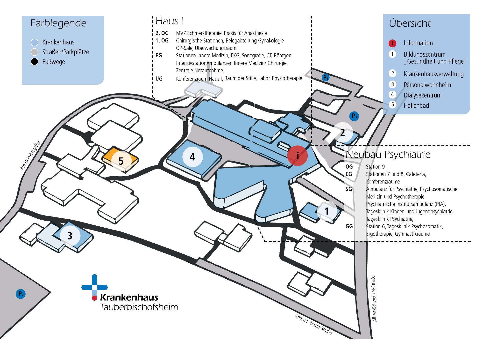 Anfahrt & Lageplan / Krankenhaus Tauberbischofsheim